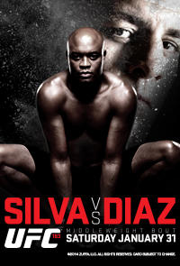 UFC 183: Silva vs. Diaz Movie Poster