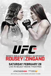 UFC 184: Rousey vs. Zingano Live Movie Poster