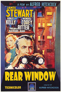 REAR WINDOW / THE NIGHT OF THE HUNTER Movie Poster