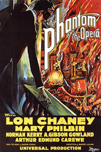 THE PHANTOM OF THE OPERA with Lon Chaney Movie Poster