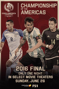 Copa America Centenario Finals 2016 Movie Poster