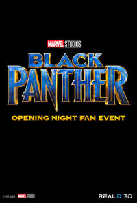 Black Panther Opening Night Fan Event Movie Poster