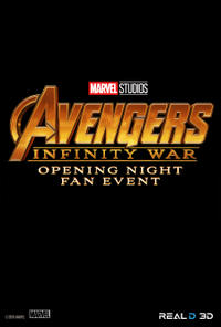 Avengers: Infinity War Opening Night Fan Event Movie Poster