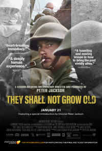 They Shall Not Grow Old 3D Movie Poster