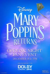 Mary Poppins Returns Opening Night Fan Event Movie Poster