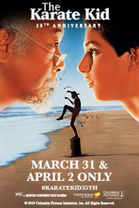 The Karate Kid 35th Anniversary Movie Poster
