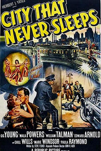 THE CITY THAT NEVER SLEEPS / 99 RIVER STREET Movie Poster