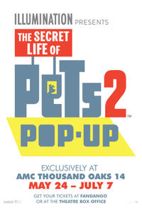 The Secret Life Of Pets Pop-Up Movie Poster