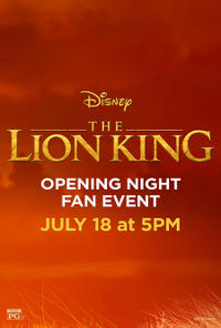 The Lion King Opening Night Fan Event Movie Poster
