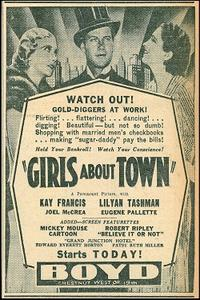 Double Feature: GIRLS ABOUT TOWN / JEWEL ROBBERY Movie Poster