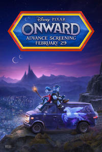 Onward: Advance Screening Movie Poster