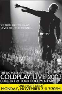 Coldplay Concert Movie Poster