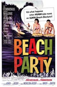 Beach Party / The Girls on the Beach Movie Poster