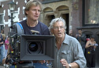 Karl Walter Lindenlaub and director Paul Verhoeven on the set of