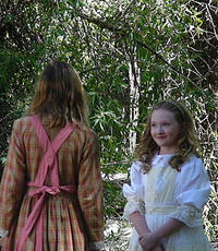 Thea Rose (Lilybet) provides an unseen strength to Cadi Forbes in