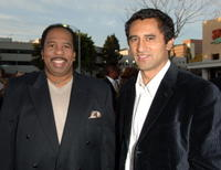Actors Leslie David Baker and Cliff Curtis at the L.A. premiere of