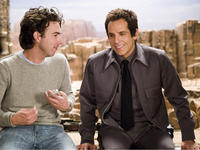 Director Shawn Levy and Ben Stiller on the set of