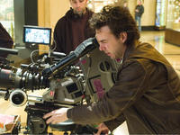 Director Shawn Levy prepares a shot on the set of