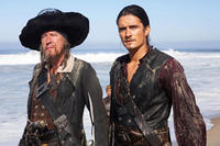 Geoffrey Rush and Orlando Bloom in