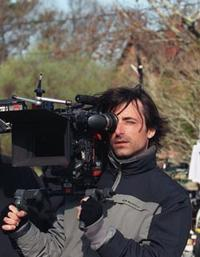 Director Noah Baumbach on the set of
