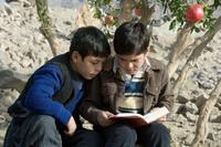 Ahmad Khan Mahmoodzada as young Hassan and Zekiria Ebrahimi as young Amir star in