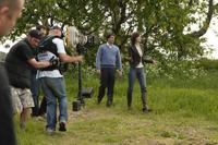 Patrick Dempsey and Michelle Monaghan on the set of