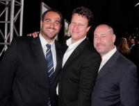 Producer Michael Sugar, Director Gavin Hood and producer Steve Golin at the L.A. premiere of