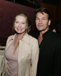 Lisa Niemi and actor Patrick Swayze at the after party of the Hollywood premiere of