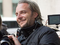 Director Francis Lawrence on the set of