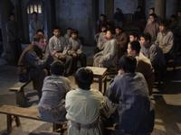 Jonathan Rhys Meyers as George Hogg and the Children of Huang Shi in