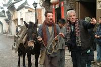 Jonathan Rhys Meyers and Director Roger Spottiswoode on the set of