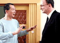 Tan Dun and the Met's incoming general manager Peter Gelb.