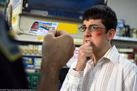 Fogell (Christopher Mintz-Plasse) – posing as McLovin, the 25-year-old Hawaiian organ donor – gets asked for some identification in