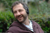 Producer Judd Apatow on the set of