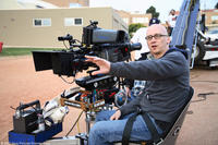 Director Greg Mottola on the set of
