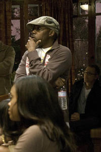 Producer Will Packer on the set of