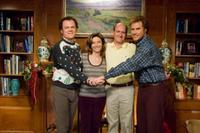 Brennan Huff (Will Ferrell, left) and Dale Doback (John C. Reilly, right) are two middle-aged, immature, overgrown boys forced to live together as stepbrothers when Brennan's mother, Nancy (Mary Steenburgen, center left) marries Dale's father, Robert in