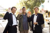 John C. Reilly, Adam McKay and Will Ferrell on the set of
