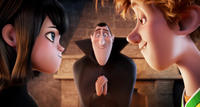 Mavis voiced by Selena Gomez, Dracula voiced by Adam Sandler and Jonathan voiced by Andy Samberg in
