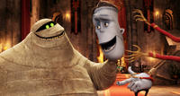 Murray the Mummy voiced by Cee Lo Green and Frank voiced by Kevin James in