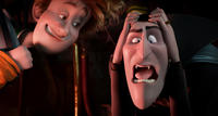 Johnnystein voiced by Andy Samberg and Dracula voiced by Adam Sandler in