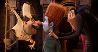 Quasimodo voiced by Jon Lovitz, Johnnystein voiced by Andy Samberg and Dracula voiced by Adam Sandler in