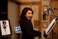 Fran Drescher on the set of