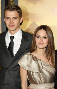 Actors Hayden Christensen and Rachel Bilson at the N.Y. premiere of