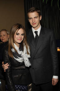 Actors Rachel Bilson and Hayden Christensen at the after party of the N.Y. premiere of