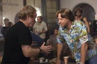 Director Ridley Scott and Russell Crowe on the set of