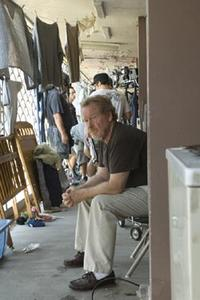Director Ridley Scott on the set of