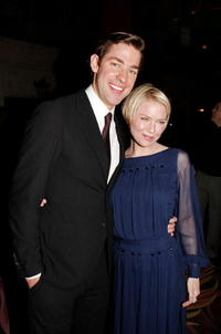 Actors John Krasinski and Renee Zellweger at the Hollywood premiere of