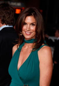 Model Cindy Crawford at the Hollywood premiere of