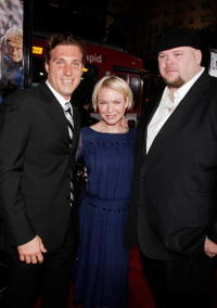 Actors Nick Paonessa, Renee Zellweger and Keith Loneker at the Hollywood premiere of
